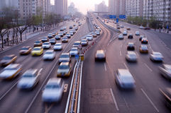 Automobiles trip traffic Stock Image