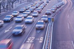 Automobiles trip traffic Royalty Free Stock Photo
