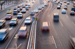 Automobiles trip traffic Stock Photography