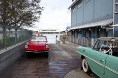 Automobili al lancio amphicar della barca Fotografie Stock