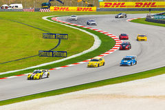 Automobili alla corsa della serie eccellente malese Fotografie Stock