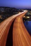 Automobili alla notte Fotografia Stock