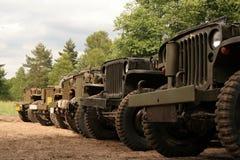 Automobili americane dell'esercito Immagine Stock