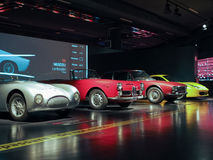 Automobili antiche al museo dell'automobile a Torino Immagine Stock Libera da Diritti
