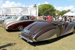 Automobili antiche britanniche costose Immagini Stock Libere da Diritti