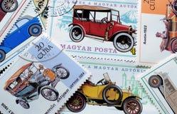 Automobili antiche sui bolli Fotografia Stock Libera da Diritti