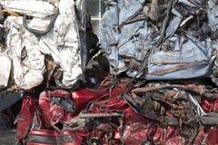 Automobili appiattite per riciclare Immagini Stock Libere da Diritti