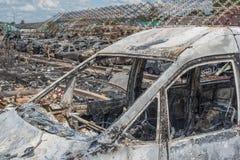 Automobili bruciate Fotografia Stock
