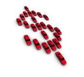 Automobili che fanno simbolo del dollaro Fotografie Stock
