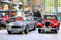 Automobili classiche britanniche Fotografia Stock Libera da Diritti