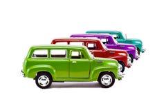 Automobili classiche in una fila Immagine Stock