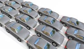 Automobili in code lunghe Immagine Stock