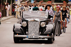 Automobili d'annata al festival fotografia stock
