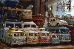 Automobili d'annata del giocattolo della raccolta Fotografie Stock Libere da Diritti