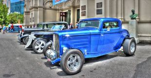 Automobili d'annata dell'americano degli anni 30 Fotografie Stock