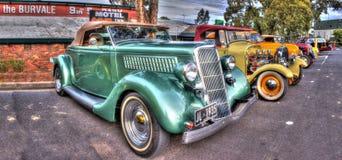 Automobili d'annata su esposizione Fotografie Stock