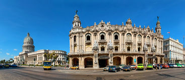 Automobili d'annata vicino al Campidoglio, Avana, Cuba Fotografia Stock Libera da Diritti