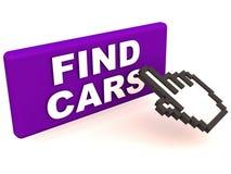 Automobili del ritrovamento Immagini Stock