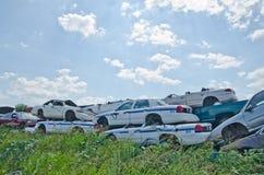 Automobili del rottamaio Fotografie Stock