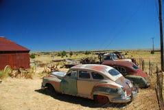 Automobili dell'annata in città fantasma Shaniko, Oregon Fotografie Stock Libere da Diritti