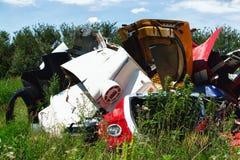 Automobili dell'iarda del residuo Immagine Stock Libera da Diritti