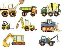 Automobili della costruzione Immagini Stock
