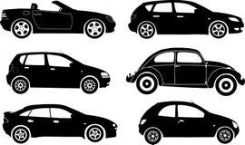 Automobili della siluetta, vettore Immagine Stock Libera da Diritti
