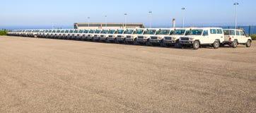 automobili di bianco 4X4 Immagine Stock