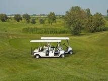 Automobili di golf immagini stock