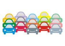 Automobili di gran numero Immagine Stock