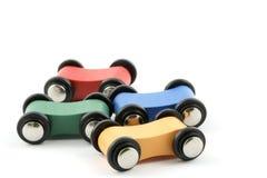 Automobili di legno del giocattolo Fotografia Stock