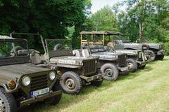 Automobili 1945 di Miilitary Fotografia Stock Libera da Diritti