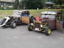 Automobili di Myssle retro immagine stock libera da diritti