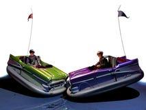 Automobili di paraurti divertenti Fotografia Stock