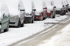 Automobili di parcheggio Immagini Stock Libere da Diritti