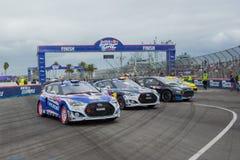 Automobili di raduno a Red Bull GRC Rallycross globale Fotografia Stock Libera da Diritti