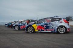 Automobili di raduno a Red Bull GRC Rallycross globale Immagine Stock