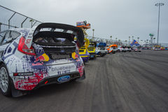 Automobili di raduno a Red Bull GRC Rallycross globale Fotografia Stock