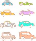 Automobili di schizzo Immagine Stock