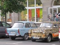 Automobili di Trabi, Berlino, Germania fotografia stock