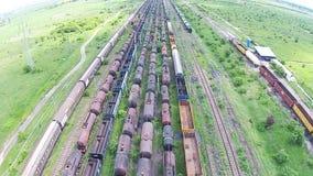 Automobili di treno merci aeree archivi video