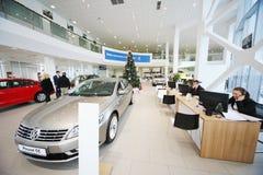 Automobili e consulenti sui posti di lavoro Fotografia Stock