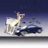 Automobili e vetro di arresto Fotografia Stock Libera da Diritti