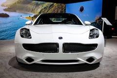 Automobili eccellenti di lusso elettriche ibride di Karma Revero Fotografie Stock