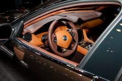 Automobili eccellenti di lusso elettriche ibride di Karma Revero Fotografia Stock
