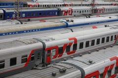 Automobili ferroviarie Immagine Stock Libera da Diritti