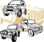 Automobili fuori strada - insieme di vettore Immagine Stock Libera da Diritti