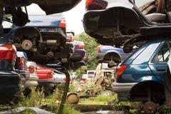Automobili impilate Immagini Stock Libere da Diritti