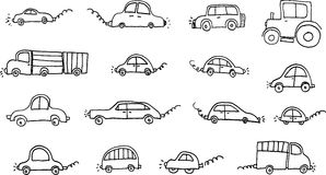 Automobili impostate illustrazione vettoriale