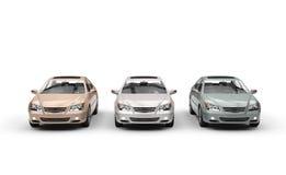 Automobili metalliche della pittura royalty illustrazione gratis